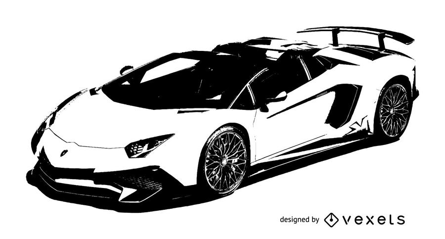 Lamborghini de carro de corrida de luxo