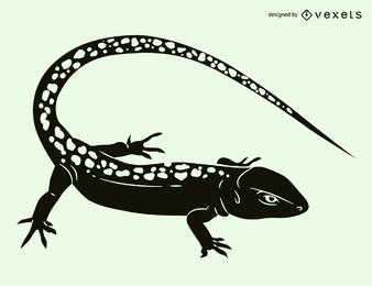 Ilustración de silueta de lagarto