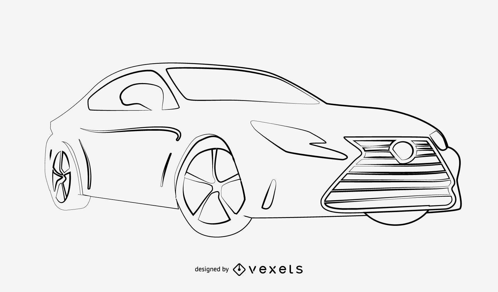 Sketchy Traced Mercedes-Benz SL