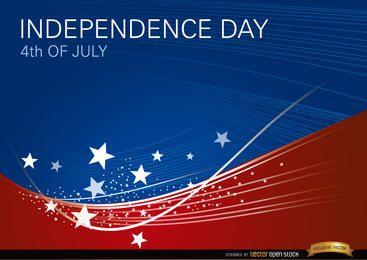 Fondo ondulado USA el 4 de julio.