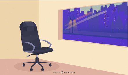 Vector de silla de oficina