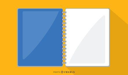 Office notebook vector