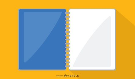 Vector de cuaderno de oficina