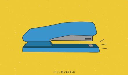 Grampeador azul de uma ferramenta estacionária de escritório