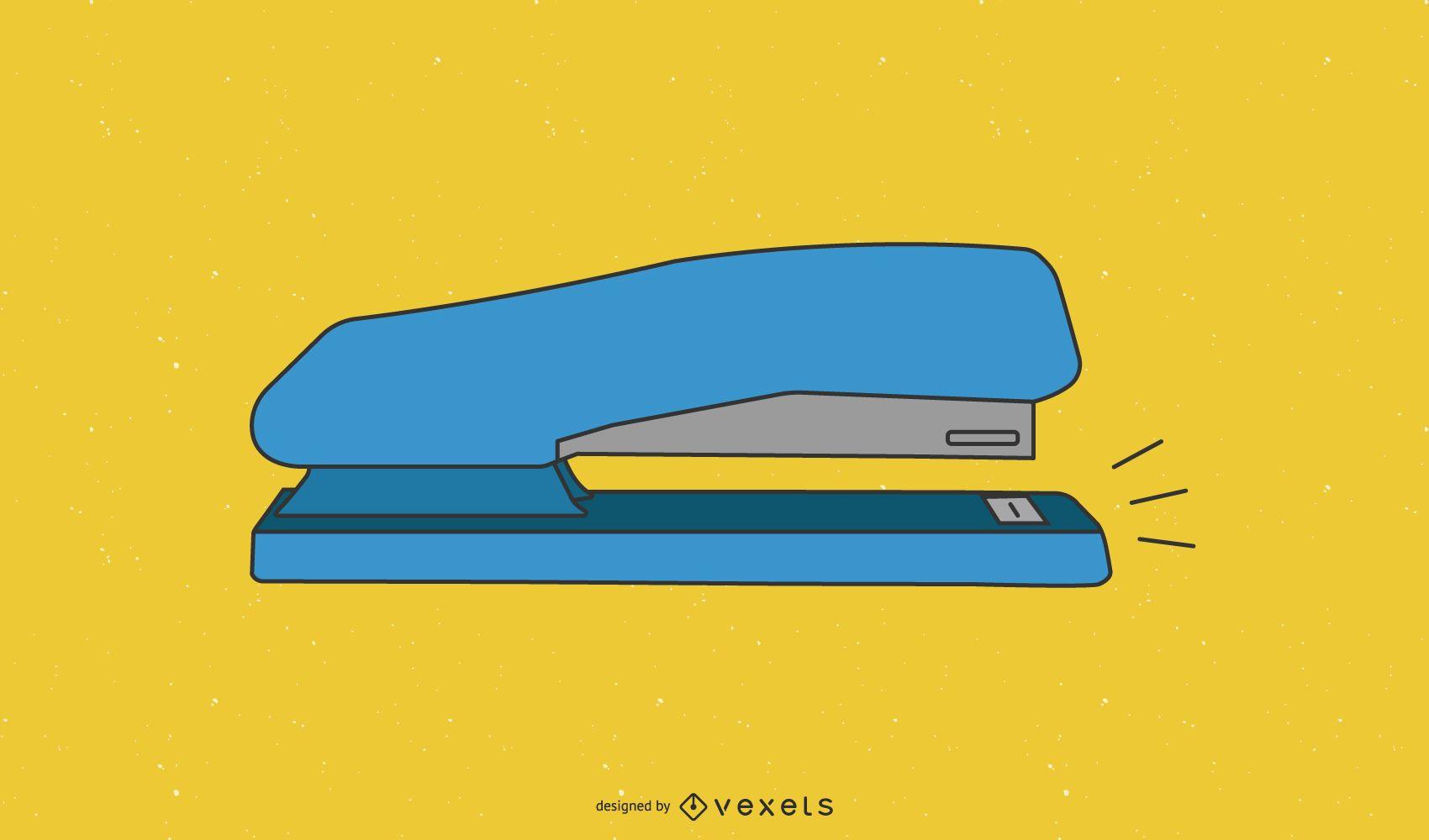 Blue Stapler of an Office Stationary Tool