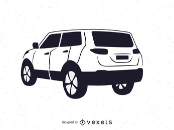Vehículo SUV en blanco y negro