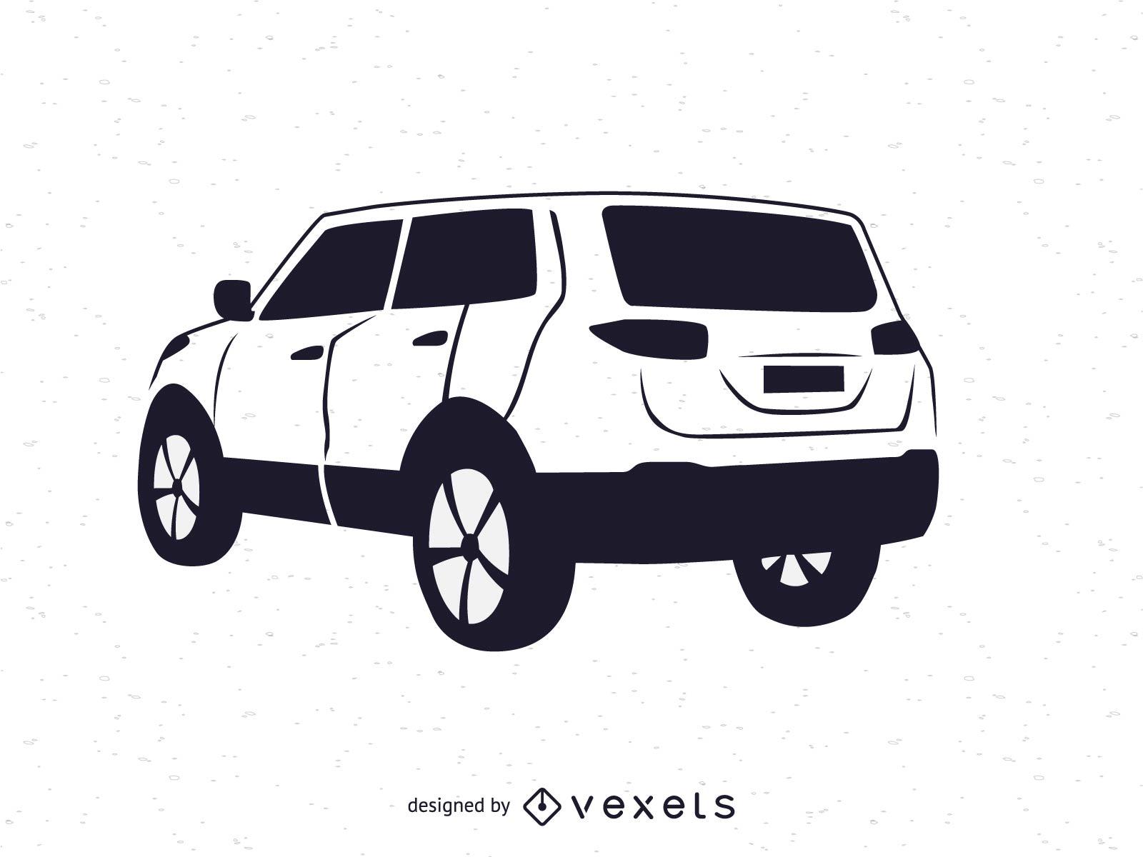 Vehículo SUV blanco y negro