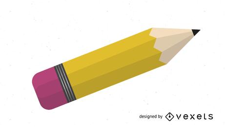 Lápis de madeira amarelo brilhante