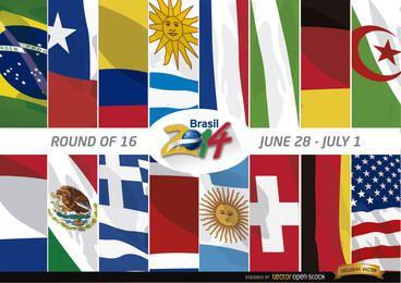 Equipos Ronda 16 de Brasil 2014