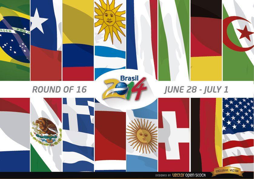 Brazil 2014 Round of 16 Teams