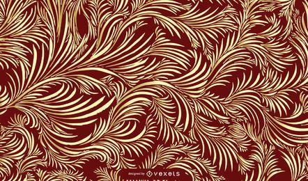 Nahtloses goldenes Weinlese-Damast-Muster