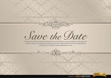 Convite do casamento com riband floral