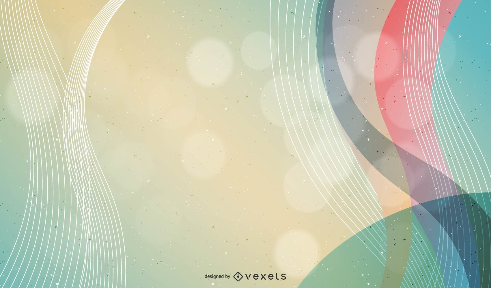 Colorful Curvy Lines and Waves Background