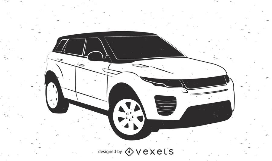 Esboço do carro Range Rover Evoque