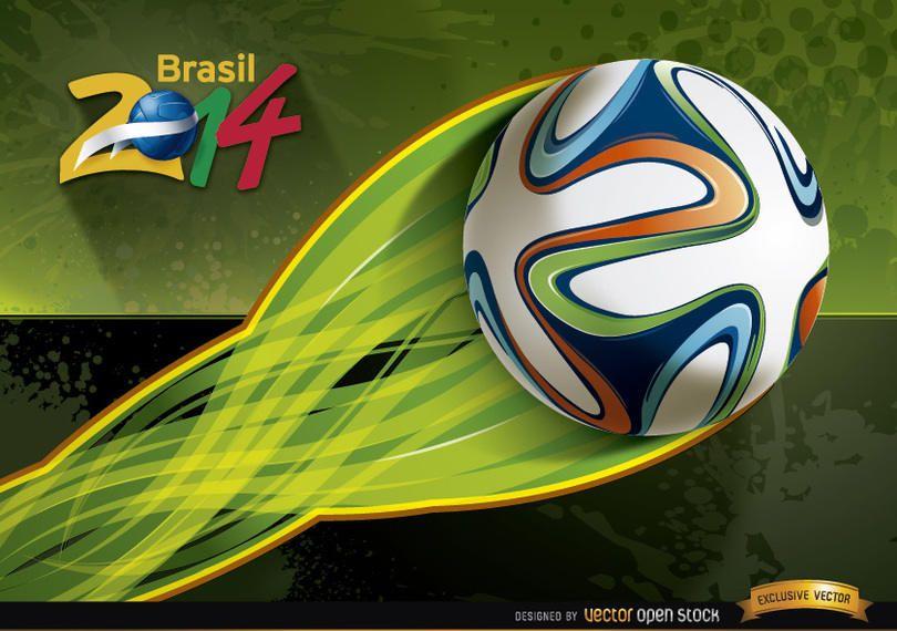Brasil 2014 football energy trail wallpaper