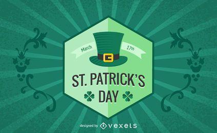 Tarjeta del día retro de St Patrick