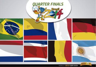 Brasil 2014 equipes para quartas de final