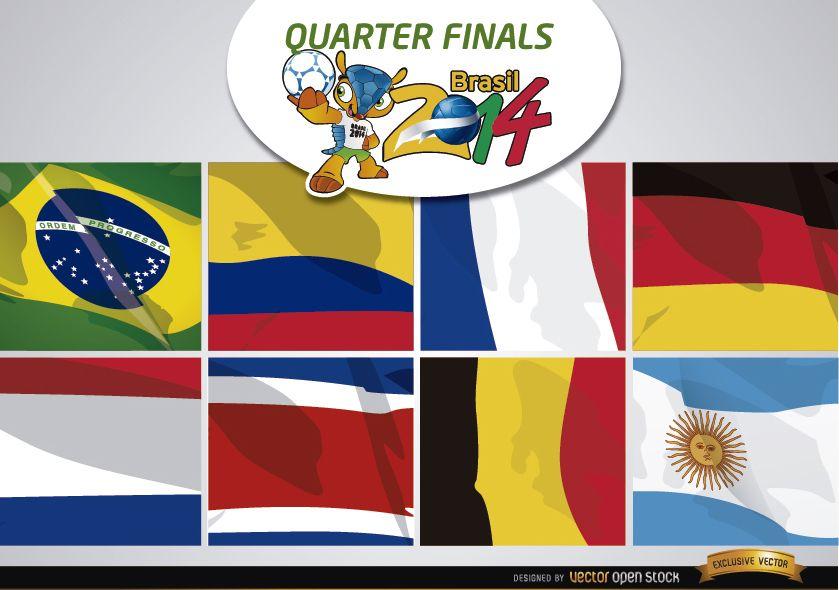 Brasil 2014 Teams for quarter finals