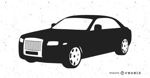 Rolls-Royce con trazado en blanco y negro
