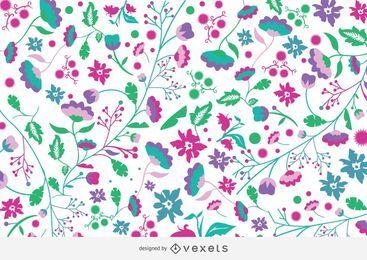 Fundo colorido de jardim de flores funky