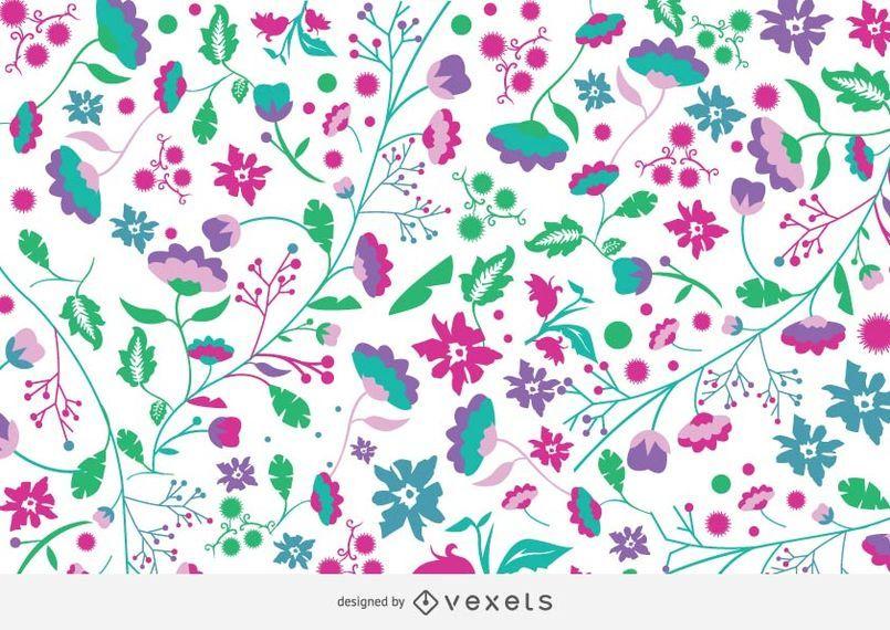 Flippiger Blumen-Garten-bunter Hintergrund