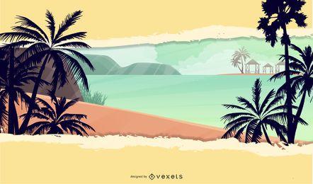 Estilo Funky Rasgar Ilha Tropical