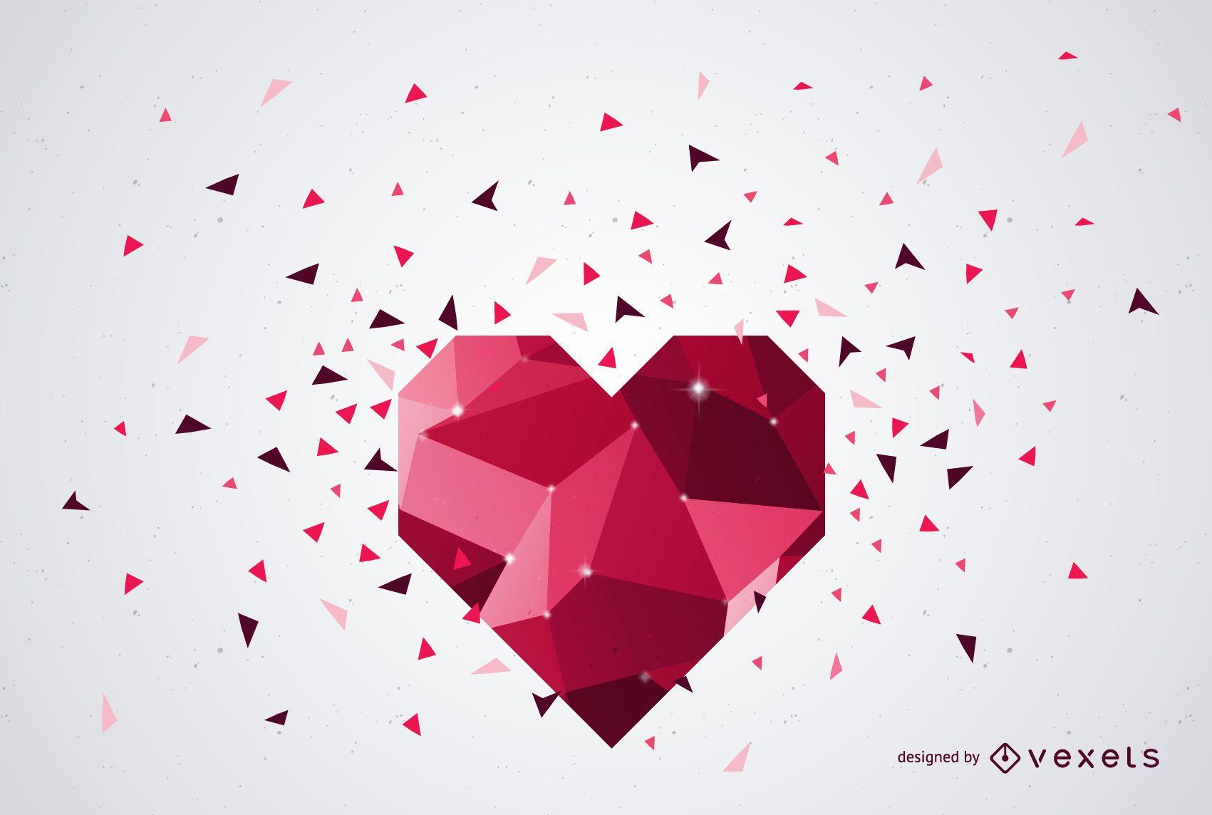 Textura de diamante rojo fondo de San Valentín