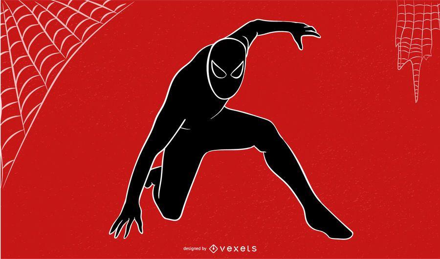 Bosquejo abstracto del hombre araña
