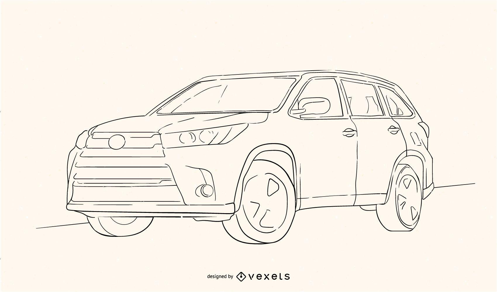Toyota Highlander Sketch
