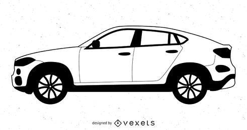 Coche de lujo blanco y negro Volvo XC Coupe