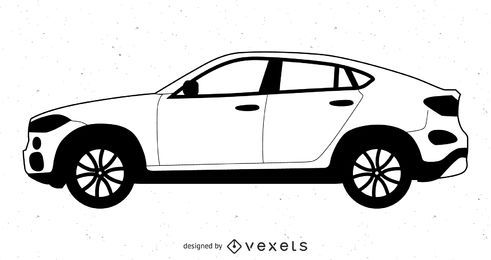 Schwarzes und weißes Volvo XC-Coupé-Auto