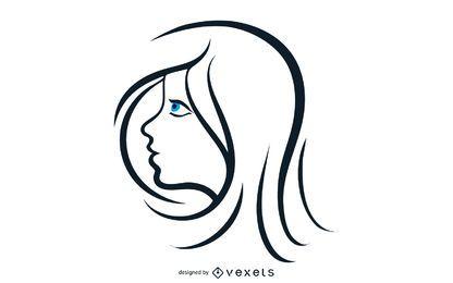 Schönheit der Frau mit blauen Augen