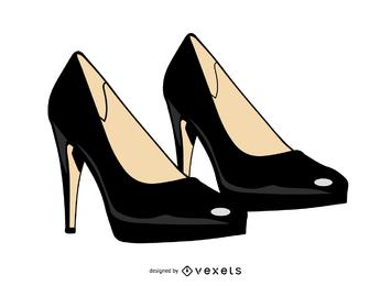 Par de sapatos de moda feminina