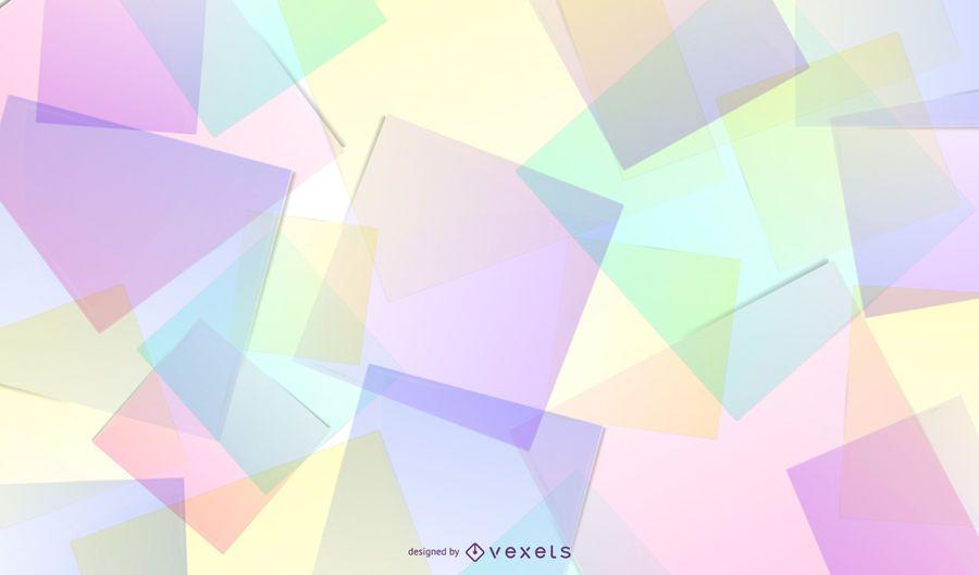 Fundo abstrato de folhas de vidro colorido fluorescente
