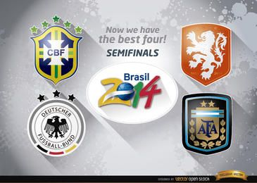 Brasil 2014 equipes de semifinais