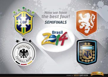 Equipos de semifinales de Brasil 2014