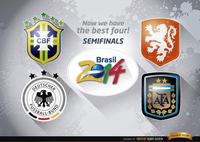 Brazil 2014 semi-finals teams