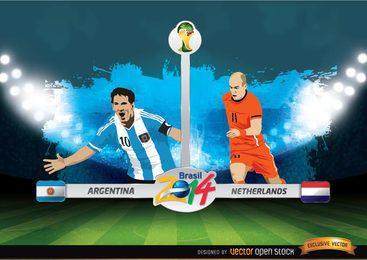 Argentina Vs Copa do Mundo FIFA Holanda