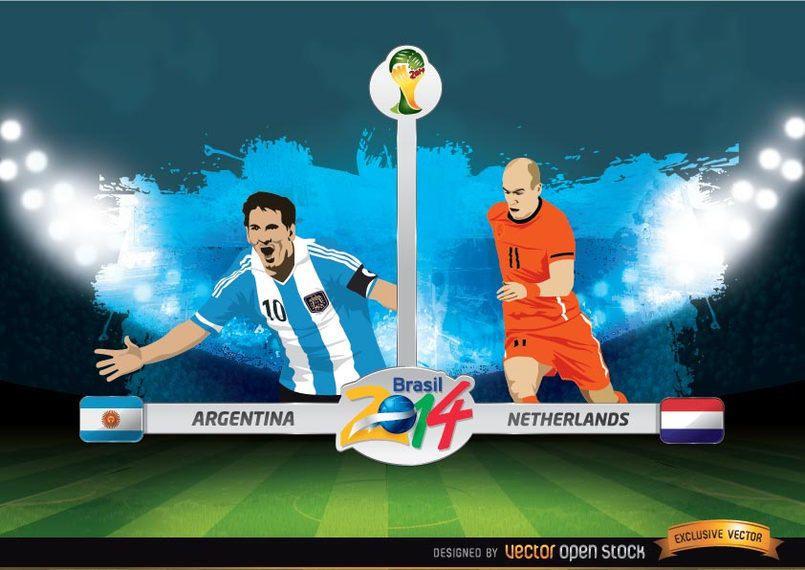Argentina vs. Copa do Mundo da FIFA na Holanda