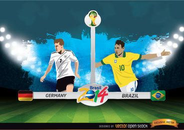 Deutschland gegen FIFA Fussball-Weltmeisterschaft Brasilien