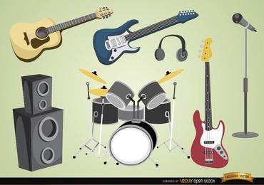 Musikinstrumente und Geräte