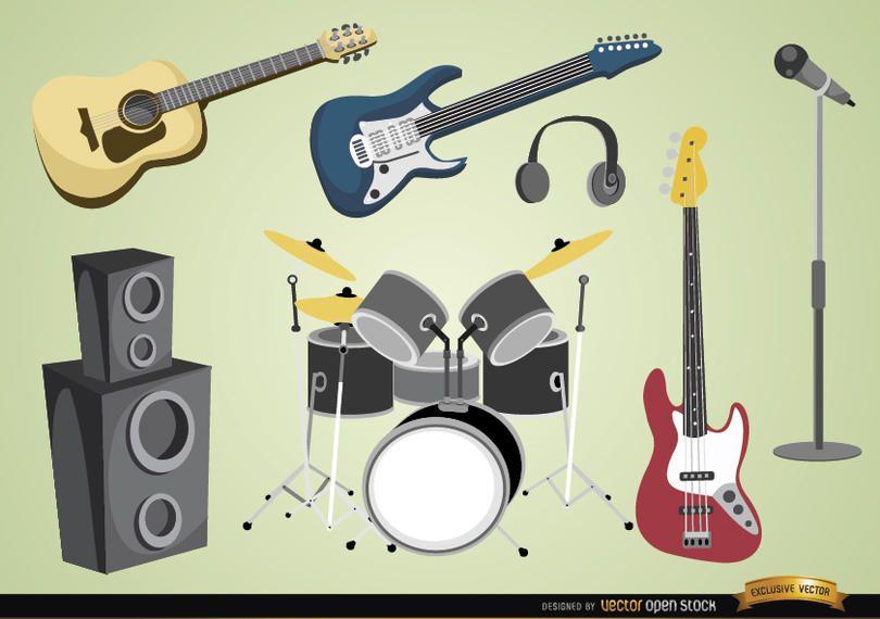 Instrumentos y dispositivos musicales.