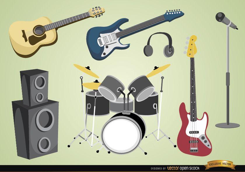 Instrumentos musicais e dispositivos