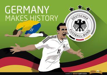 Triunfo da Alemanha sobre o Brasil faz história