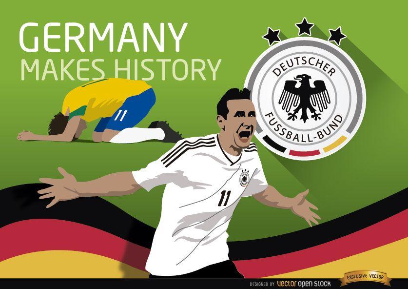 Alemania triunfa sobre Brasil hace historia