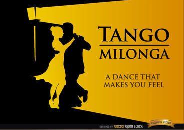 Fondo de baile de tango milonga