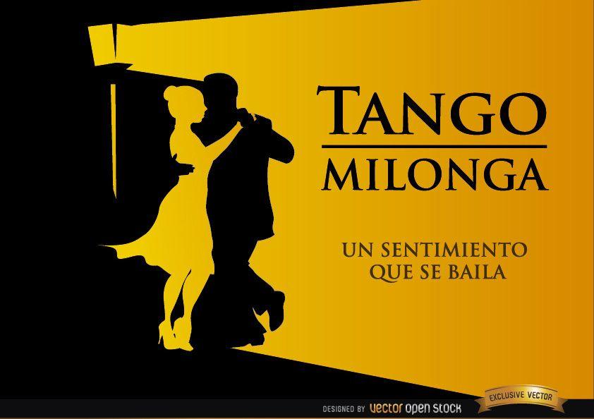 Pareja bailando Tango Milonga fondo