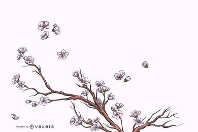 Elegant Full Blossom Flourish Background
