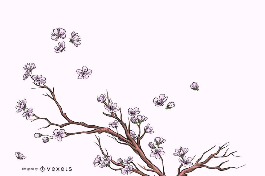 Elegante flor cheia florescer fundo