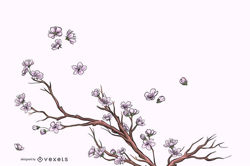 Elegante fondo de florecimiento de flor completa